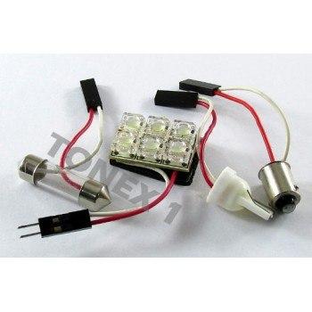 Диодна крушка (LED крушка) интериорна, за плафон 12V