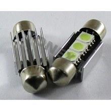 Диодна крушка (LED крушка) 12V, C5W, SV8.5, 36мм, Canbus, блистер 2 бр.