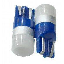 Диодна крушка (LED крушка) 12V, W5W, T10, W2.1x9.5d, синя светлина, блистер 2 бр.
