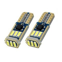 Диодна крушка (LED крушка) 12V, W5W, T10, W2.1x9.5d, Canbus, блистер 2 бр.