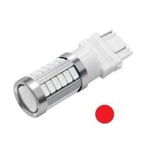 Диодна крушка (LED крушка) 12V, P27/7W, W2.5x16q червена светлина