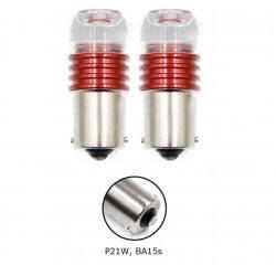 Диодна крушка (LED крушка) 12V, P21W, BA15s, мигаща червена светлина 1бр