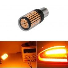Диодна крушка (LED крушка) 12V, P21W, BA15s, 1бр. оранжева светлина