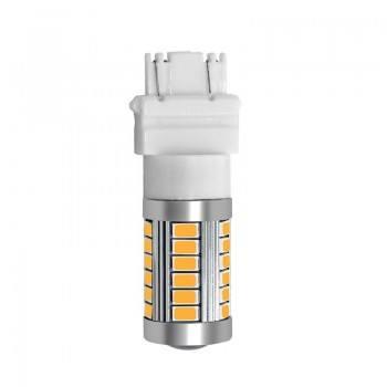 Диодна крушка (LED крушка) 12V, P27/7W, W2.5x16q оранжева светлина