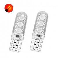 Диодна крушка (LED крушка) 12V, W5W, T10, W2.1x9.5d, Canbus, блистер 2 бр, червена светлина