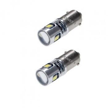 Диодна крушка (LED крушка) 12V, T4W, BA9s, Canbus, блистер 2 бр.