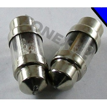 Диодна крушка (LED крушка) 12V, C5W, SV8.5, 31мм, синя светлина, блистер 2 бр.