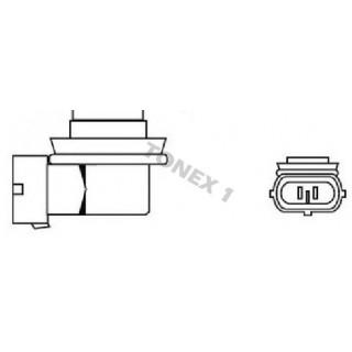 Диодна крушка (LED крушка) 12V, H8, PGJ19-1, блистер 2бр.