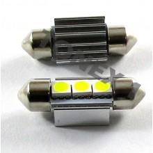 Диодна крушка (LED крушка) 12V, C5W, SV8.5, 33мм, блистер 2 бр.
