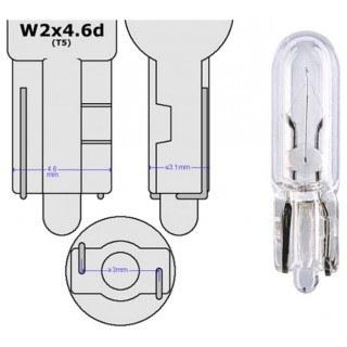 Диодна крушка (LED крушка) 12V, W1.2W, T5, W2x6.4d, Canbus, блистер 2 бр.