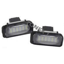 Диодни плафони осветление за номер MERCEDES W220
