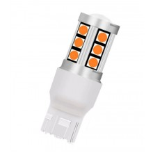 Диодна крушка (LED крушка) 12V, WY21W, W3x16d, T20 Жълта светлина 1 бр.