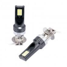 Диодна крушка (LED крушка) 12/24V, H3, PK22s блистер 2 броя