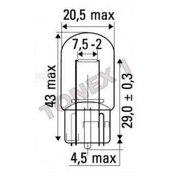 Крушка 12V, W21W, 21W, W3x16d