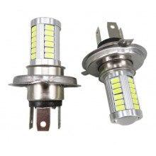 Диодна крушка (LED крушка) 12V  24V, H4, P43T, блистер 2бр