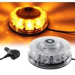 Аварийна сигнална LED лампа 12V 24V оранжева