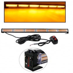 Аварийна сигнална LED лампа 12V / 24V блиц оранжева светлина