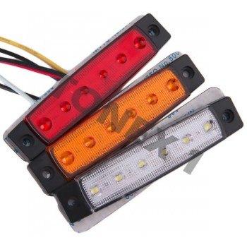 Диоден (LED) страничен габарит 96х21мм универсален 12 / 24V
