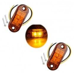 Диоден (LED) габарит оранжев 12V / 24V 2бр