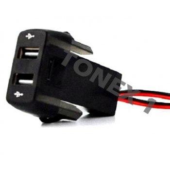USB зарядно за два телефона за вграждане в таблото на SCANIA 12 / 24V