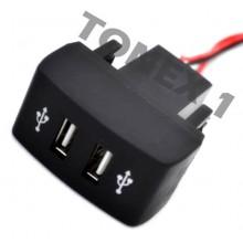 USB зарядно за два телефона за вграждане в таблото на IVECO 12 / 24V