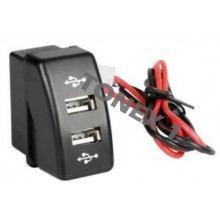 USB зарядно за два телефона за вграждане в таблото на DAF 12 / 24V
