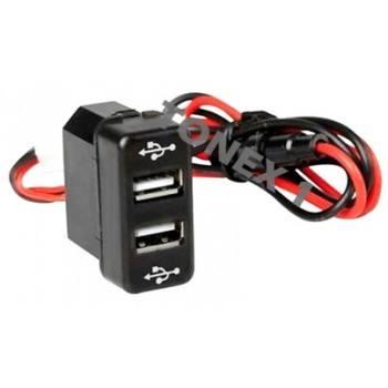 USB зарядно за два телефона за вграждане в таблото на MAN 12 / 24V