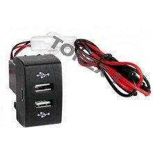 USB зарядно за два телефона за вграждане в таблото на MERCEDES ACTROS MP3 12 / 24V