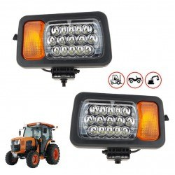 Диодни (LED) фарове с мигач, габарит, къси и дълги 12V 24V 1бр