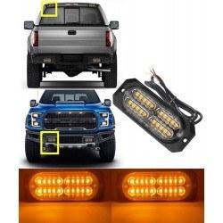 Аварийна сигнална LED лампа 12V 24V блиц