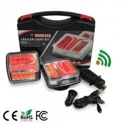Безжични диодни (LED) стопове за ремарке с магнитно закачане 2бр 12V 24V