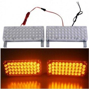 Аварийна сигнална LED лампа 12V блиц оранжева светлина