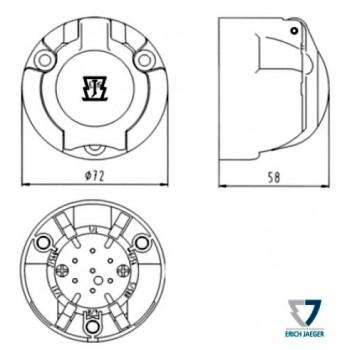 Букса за ремарке пластмасова 7 пина 12V комплект