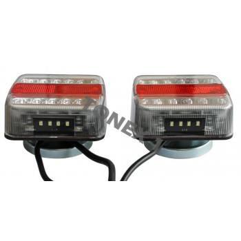 Диодни (LED) стопове за ремарке с магнитно закачане и окабеляване 2бр 12V