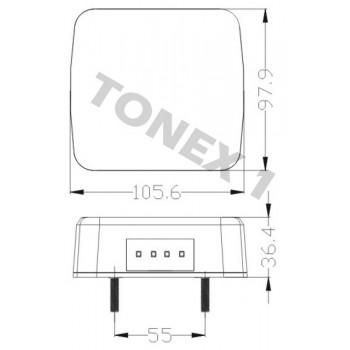 Диоден (LED) стоп за ремарке 1бр 12V