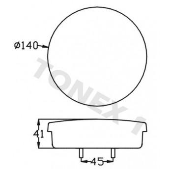 Диоден (LED) стоп за ремарке 1бр 12 / 24V