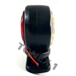 Диоден (LED) габарит рог за броня универсален 12 / 24V