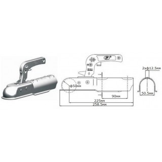 Лапа за ремарке / ключалка за теглич / 750кг SPP ZSK-750C