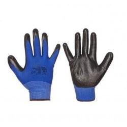 Работни ръкавици топени в нитрил оребрени