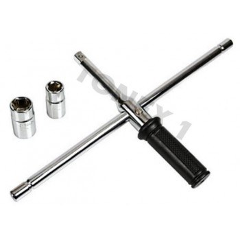Ключ за гуми сгъваема кръстачка 17, 19, 21, 23мм