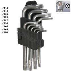 Комплект Г-образни торксове 9 бр.