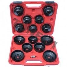 Комплект ключове за смяна на маслен филтър тип чашка 15 части